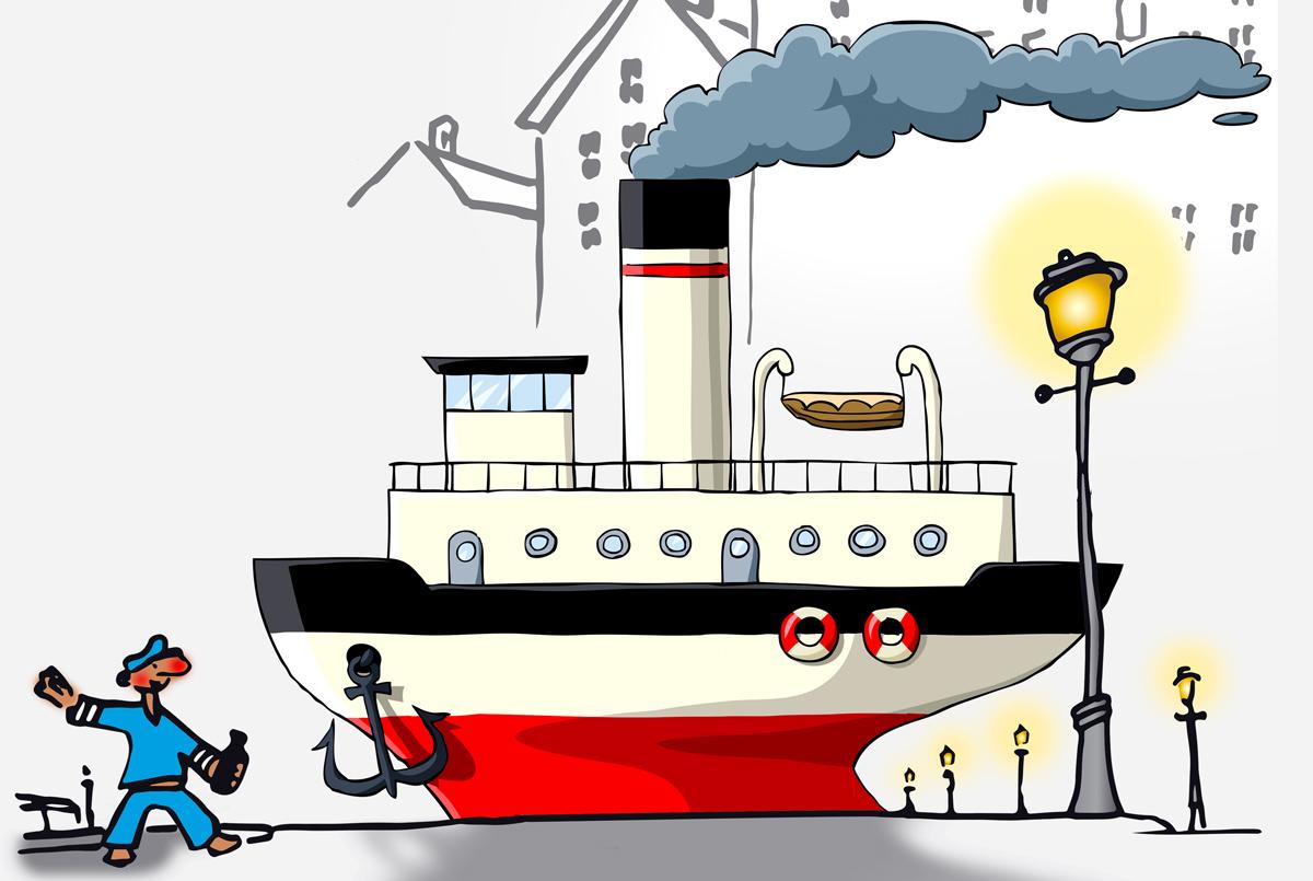 Illustration Hafenparty