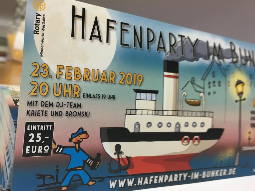 Ticket zur Hafenparty Minden
