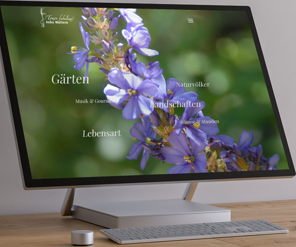 Idee und Design der Webseite